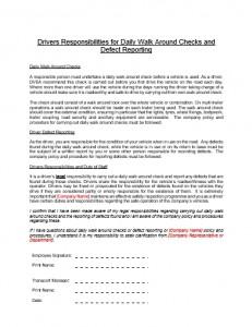 Drivers Responsibilities Document