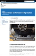 Brake Test Guidance
