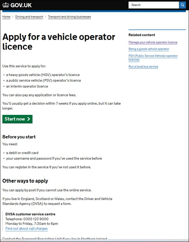 Apply For An O Licence